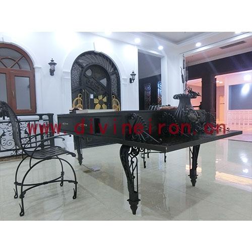 铁木钢琴桌